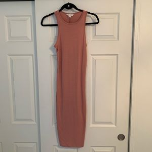 Forever 21 Pink Fitted Midi Dress